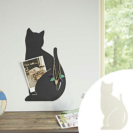 ウォールディスプレイ ネコB ねこ アクセサリーハンガー ( アクセサリーツリー ジュエリーハンガー 壁掛け ウォールケース アクセサリー ジュエリー 収納 インテリア 黒ネコ くろねこ 黒猫 白猫 CAT 山崎実業 )