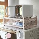 レンジ上ラック キッチン収納棚 KIRIE キリエ スチール製 組立式 ( レンジ棚 整理棚 キッチンラック キッチン収…
