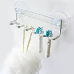 歯ブラシホルダー吸盤トゥースブラシホルダータワー5連