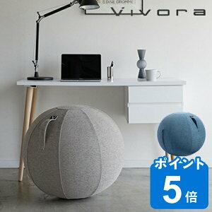 バランスボール シッティングボール ルノラ シェニール Vivora Sitting Ball Luno Chenille 65cm ( エクササイズボール ヨガボール ジムボール アンチバースト カバー付き 空気入れ付き ノンバースト