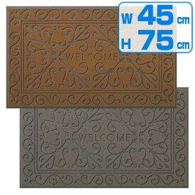 玄関マット ソフテップマットリッチアイロン 【450×750】 ( 泥落としマット 屋外用 山崎産業 )