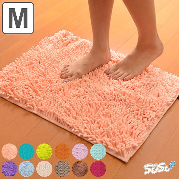 スーパードライバスマット SUSU(すうすう・スウスウ・吸う吸う) Mサイズ 45×60cm 抗菌仕様 ( マイクロファイバー 風呂マット 吸水 速乾 )