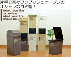 ゴミ箱プッシュダストカフェスタイル浅型ふた付き17L