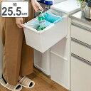 ゴミ箱 分別 ワイド 引き出しステーション 3段 65L ( 送料無料 ごみ箱 ダストボックス キッチン 隙間 省スペース おしゃれ 大容量 )
