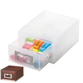 収納ボックス 引き出し プラスチック MX-60 A6 サイズ 浅型 収納 日本製 ( 小物収納 収納ケース ケース ボックス 引出し 小物ケース 書類 卓上収納 整理整頓 デスク周り レターケース 事務用品 文房具 おしゃれ )