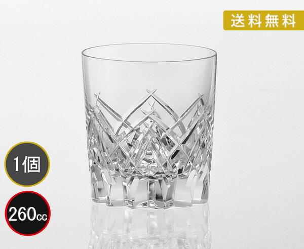 送料無料カガミクリスタル KAGAMI CRYSTAL ロックグラス 260cc T769-2827 木箱入り