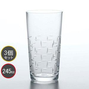 東洋佐々木ガラス 3個セット 和紋 タンブラーグラス(段つなぎ柄) タンブラー T-20204-C730 プロユース 業務用 家庭用 コップ 家飲み ウィスキーグラス バーアイテム