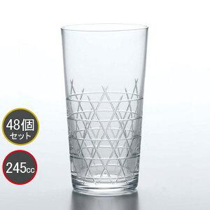 東洋佐々木ガラス 48個セット 和紋 タンブラーグラス(籠目柄) タンブラー T-20204-C731 プロユース 業務用 家庭用 コップ 家飲み ウィスキーグラス バーアイテム
