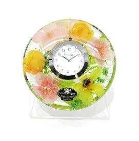 ドリームクロック 置き時計 フローレンス 直径約11cm×高さ4cm CDD72106CL