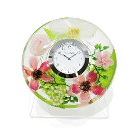 ドリームクロック 置き時計 ロザンヌ 直径約11cm×高さ4cm CDD72107CL