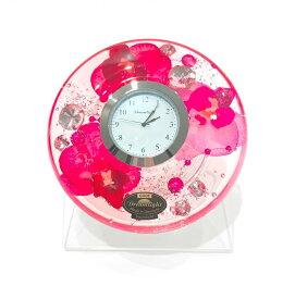 ドリームクロック 置き時計 オーキッドダイアモンド 直径約11cm×高さ4cm CDD7280CL