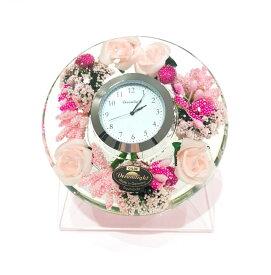 ドリームクロック 置き時計 リトルローズ 直径約11cm×高さ4cm CDD7297CL