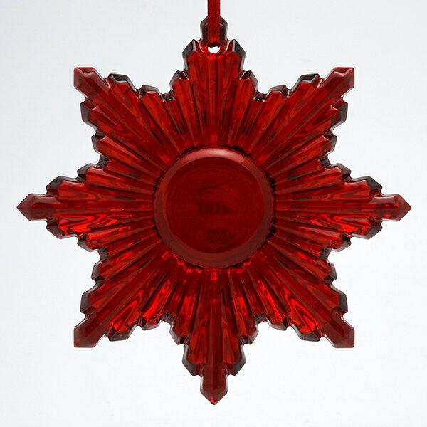 訳あり・キズあり送料無料 Baccarat バカラ クリスマスオーナメント 置物 ルビー 2808-392 Red Mirror 2014