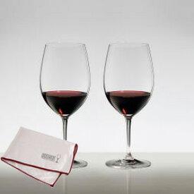 純正グラス拭きクロス付属 送料無料・包装無料 RIEDEL リーデル ヴィノム(ビノム) ワイングラス ボルドー ≪ペア≫ 6416/0 マイクロファイバー・ポリッシング・クロス