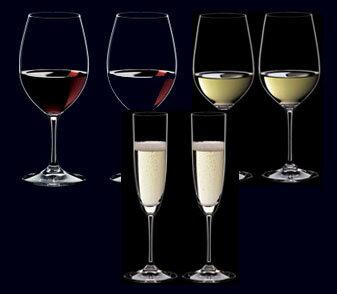 【6本購入でポイント12倍】 RIEDEL リーデル ヴィノム(ビノム)スターターセット 416/0,416/15,416/8 各2本 ワイングラス 赤ワイン用【ボルドー】、白ワイン用【リースニング】、シャンパン用【シャンパンフルート】