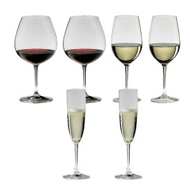 6本購入でポイント10倍 送料無料・包装無料 RIEDEL リーデル ヴィノム(ビノム)スターターセット 416/7,416/15,416/8 各2本 ワイングラス 赤ワイン用ブルゴーニュ、白ワイン用ジンファンデル、シャンパン用シャンパンフルート