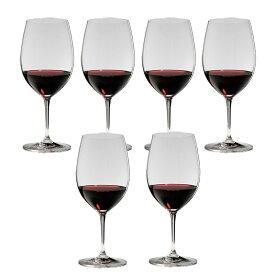 6本購入でポイント10倍 送料無料・包装無料 RIEDEL リーデル ヴィノム(ビノム) ワイングラス ボルドー ≪6本セット≫ 6416/0