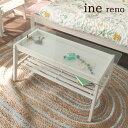 inereno[アイネリノ] リビングテーブル INT-2559WH センターテーブル テーブル ガラステーブル コーヒーテーブル ローテーブル