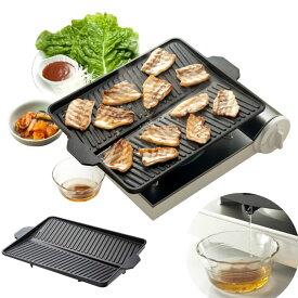 サムギョプサル 鉄板 カセットコンロ用 韓国料理に最適な焼肉鉄板プレート #3562 イシガキ産業 おいしさ特選便 ヘルシー 焼肉グリル