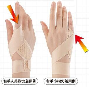 メール便送料無料 セルヴァン 接骨院の先生が監修した指のサポーター 左右兼用1枚 日本製