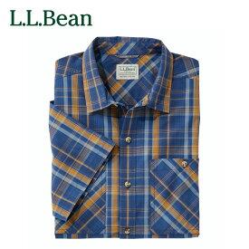 【公式】エルエルビーン オッター・クリフ・シャツ 半袖 プラッド 米国フィット・レギュラー メンズ 3色 3サイズ
