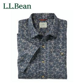 【公式】エルエルビーン オッター・クリフ・シャツ 半袖 プリント 米国フィット・レギュラー メンズ 2色 3サイズ