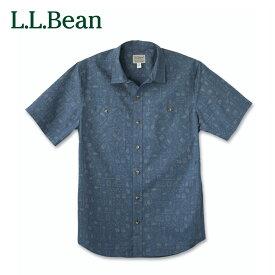 【公式】エルエルビーン オッター・クリフ・シャツ 半袖 プリント 米国フィット・レギュラー メンズ シャツ