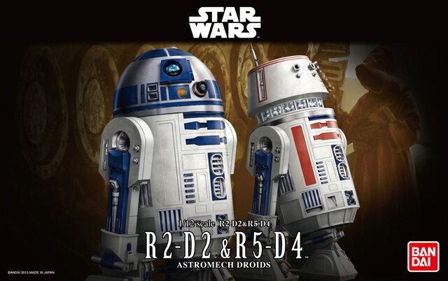 スターウォーズ 1/12 R2-D2&R5-D4 【RCP】[201507]