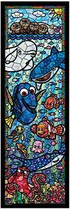 456ピース ディズニー ファインディング・ドリー ステンドグラス ぎゅっとシリーズ 【ステンドアート】(18.5x55.5cm) (DSG-456-731)【ディズニーパズル】