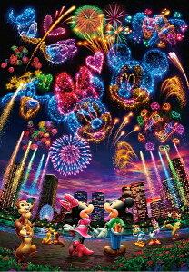 ディズニー1000ピース  ディズニー 花火に想いをのせて… 【ホログラムジグソー】 (51x73.5cm)(D-1000-032)【ディズニーパズル】