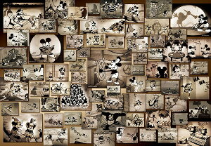 ディズニー1000ピース  ディズニー ミッキーマウス モノクロ映画コレクション (51x73.5cm)(D-1000-398)【ディズニーパズル】