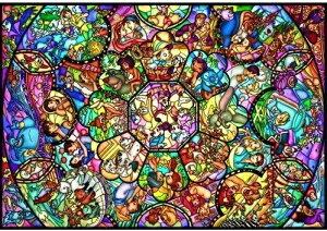 ディズニー2000ピース  オールスター ステンドグラス (D-2000-603)(73×102cm)【ディズニーパズル】