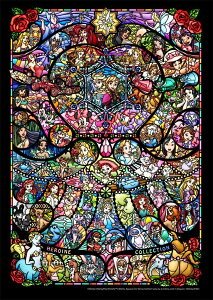 ディズニー266ピース ディズニー&/ピクサー ヒロインコレクション ステンドグラス ぎゅっとシリーズ 【ピュアホワイト】 (18.2x25.7cm) (DPG-266-576)