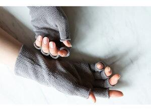 【送料無料】シルクハンドウォーマー指切り手袋/日本製ハンドケア絹絹手袋指なしスマホ手袋