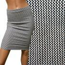 黒白ジャガード柄物スカート