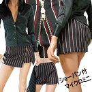 ストライプ柄のインナーパンツ付ミニスカート