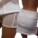 横レースの肌透けインナーパンツ付超ミニスカート