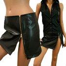 ゴールドジッパー巻きスカート