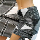 パッチワーク調の超薄地ストレッチタイトスカート