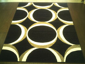 トルコ製 輸入 ラグ マット 約 200x300 cm 約 3畳 ウィルトン織り カーペット 光輪サークル ラグマット 絨毯 厚手 北欧