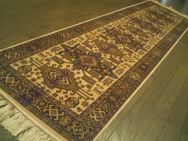 ベルギーモケット織 キッチン 廊下マット 45×150 cm廊下敷ランナー #13 ラグマット 北欧 夏 カーペット 絨毯