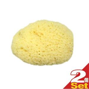 (ネコポス全国送料無料)(天然スポンジ)ユタカ 天然海綿スポンジ(フェイススポンジ)/(NATURAL SEASPONGE ナチュラル・シースポンジ)(約4〜5cm) 2個セット - お肌に優しい海からうまれた天然海綿スポ