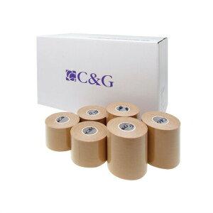 (キネシオロジーテープ)C&G キネシオロジーテープ(C&G Kinesiology Tape) - 37.5mm・50mm(5cm)・75mmの3サイズ。コストパフォーマンスが高いキネシオテープ。肌に優しい医療系粘着剤使用し、ウェーブ状