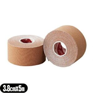 (テーピングテープ)ユニコ ゼロテープ ゼロテックス キネシオロジーテープ(UNICO ZERO TEX KINESIOLOGY TAPE) 38mmx5mx1巻 - 伸縮性のある綿布に粘着剤を塗布したキネシオロジーテープ(キネシオテープ)