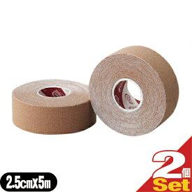 (あす楽対応)(テーピングテープ)ユニコ ゼロテープ ゼロテックス キネシオロジーテープ(UNICO ZERO TEX KINESIOLOGY TAPE) 25mmx5mx2巻 - 伸縮性のある綿布に粘着剤を塗布したキネシオロジーテープ(キネシオテープ)です。