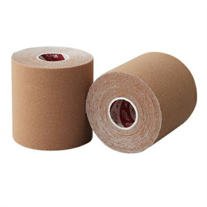 (テーピングテープ)ユニコ ゼロテープ ゼロテックス キネシオロジーテープ(UNICO ZERO TEX KINESIOLOGY TAPE) 75mmx5mx1巻 - 伸縮性のある綿布に粘着剤を塗布したキネシオロジーテープ(キネシオテープ)