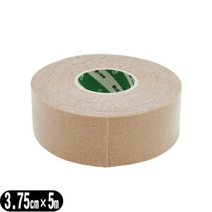 (SARASA)(PHAROS)さらさ テープ(さらさ伸縮テープ) 3.75cm(37.5mm)×5m×1巻 - 重ね貼りした状態で水や汗に濡れても剥がれにくく、アクリル糊を使用しているのでカブレにくいので安心