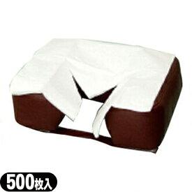 (清潔な肌触りで耐水性紙)フェイスペーパーY字カット 500枚入り(SB-216A) - 衛生的・吸水性抜群