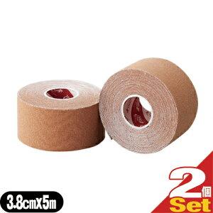 (テーピングテープ)ユニコ ゼロテープ ゼロテックス キネシオロジーテープ(UNICO ZERO TEX KINESIOLOGY TAPE) 38mmx5mx2巻 - 伸縮性のある綿布に粘着剤を塗布したキネシオロジーテープ(キネシオテープ)