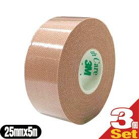 (ネコポス全国送料無料)(テーピングテープ)3M(スリーエム) マルチポアスポーツ レギュラー(伸縮固定テープ) 25mm×5m×3巻 - 2.5cm×5m。キネシオロジー固定からスポーツ固定まで、幅広い用途で活躍【smtb-s】